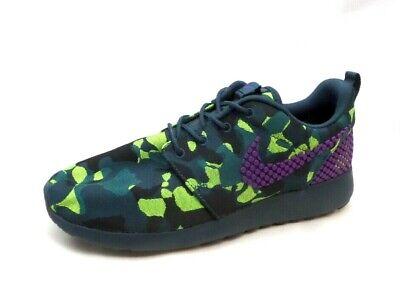 Nike Roshe One Plus Purple Green Camo Camouflage Running Shoes Women's 9.5 | eBay