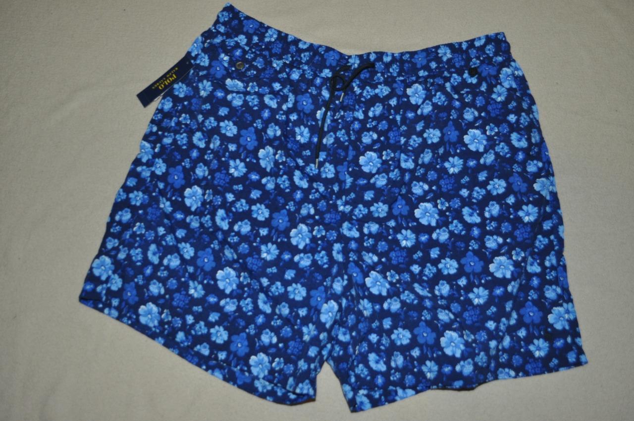 Polo Ralph Lauren Floral Traveler Swim Wear Trunks Shorts Swimsuit Mens 4XB NWT