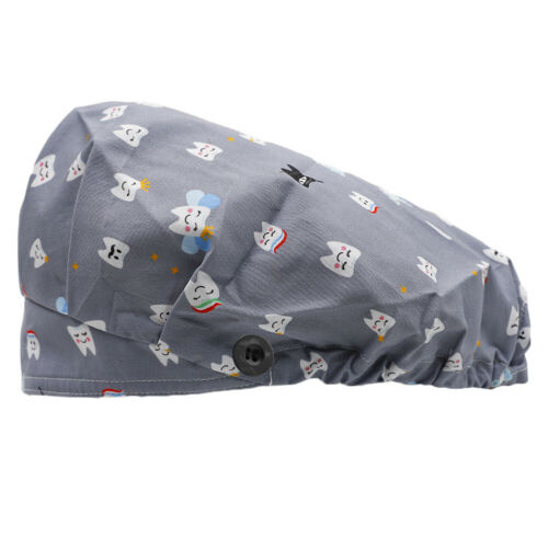 Surgical Scrub Cap Bouffant Hat with Sweatband /& Button Doctor Nurse Working Hat