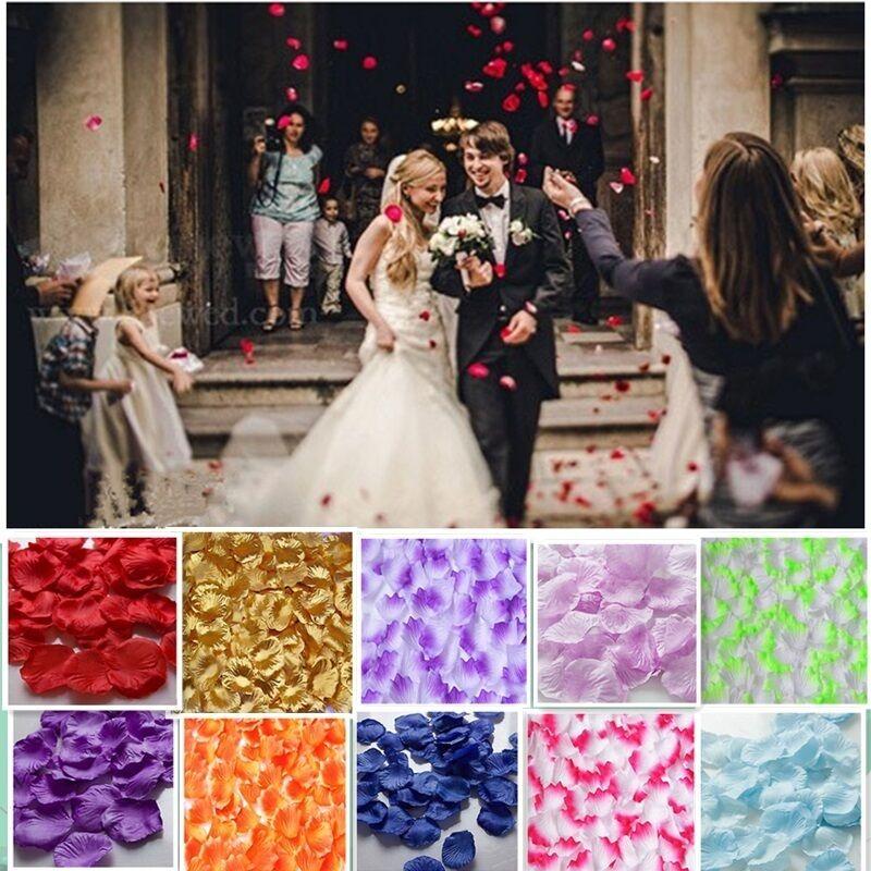 Lotti 300/1000pz. Vari Colori Fiore Di Seta Petali Di Rosa Matrimonio Love -  - ebay.it