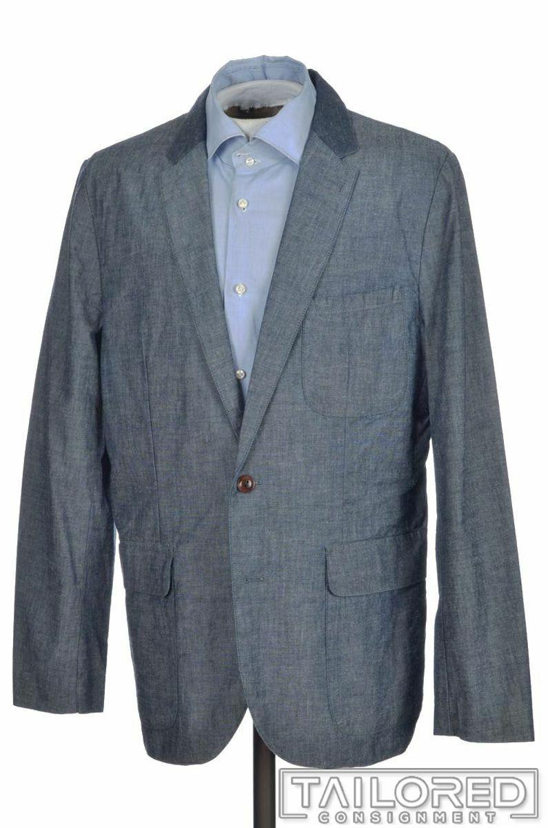 J. Crew Color Azul  100% Algodón Hombre Abrigo Chaqueta Blazer Sport-Medio 40 R  autorización