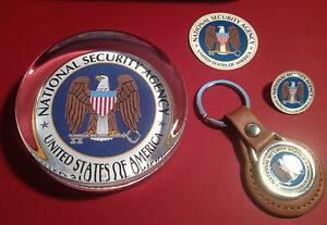Gouvernement des états-unis agence presse-papiers en verre, porte-clés & insignes:  </span>
