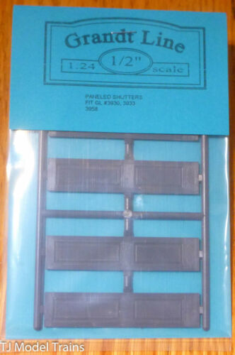 Grandt Line #3958 Paneled Shutters fits: #3930, 3933 or 3958 (1:24th Scale)