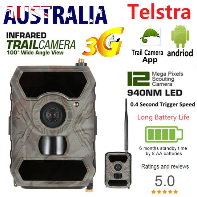 3G MMS Trail Camera Hunting Scouting Game Wildlife IR 940NM Wirless Cam No Spy