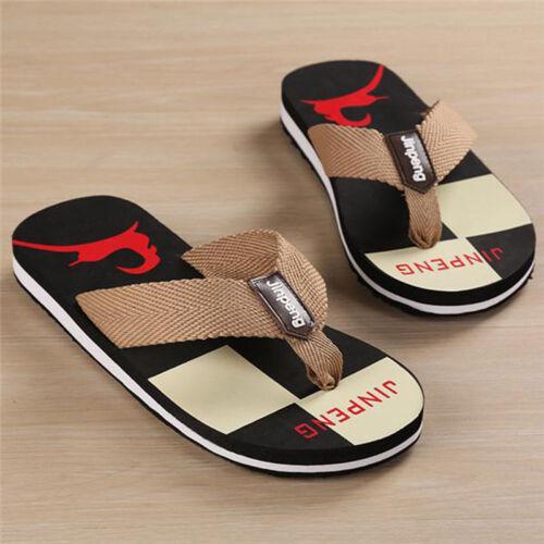 Men Summer Beach Flip Flops Flat Slippers Casual Anti Skid Sandals Shoes