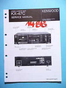 original Tv, Video & Audio Service Manual-anleitung Für Kenwood Kx-47c