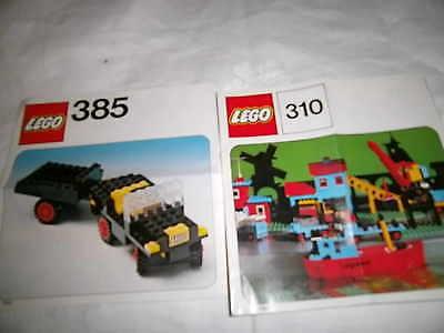 LEGO  BA Bauanleitung Lego Systems 385/ Auto/ 310 Schiff Boat  70er Jahre