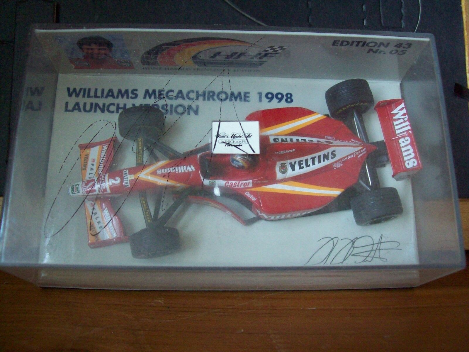 1 43 WILLIAMS MECACHROME 1998 LAUNCH VERSION HEINZ-HARALD FRENTZEN