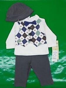 Infant Boys Harry & Violet $38 3pc Vest Set Size 0/3 Months - 6/9 Months