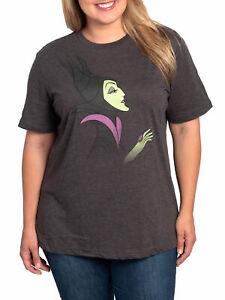 Women-039-s-Plus-Size-Maleficent-T-Shirt-Disney-Villain-Gray