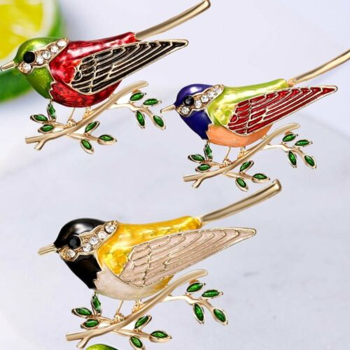 Fashion Lovely Animal Oiseau Cristal Broche Pin Women costum printemps bijoux cadeau