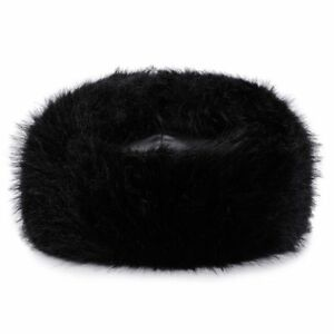 1388125d4aa Details about Bomber Winter Hat Black for Men   Women PU Leather Fur Trapper  Hats by AKIZON