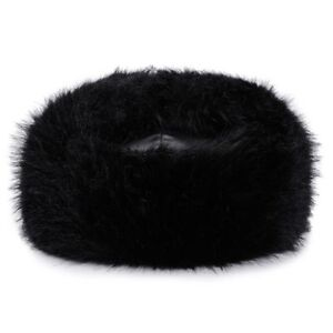 6ab422e831f Details about Bomber Winter Hat Black for Men   Women PU Leather Fur  Trapper Hats by AKIZON