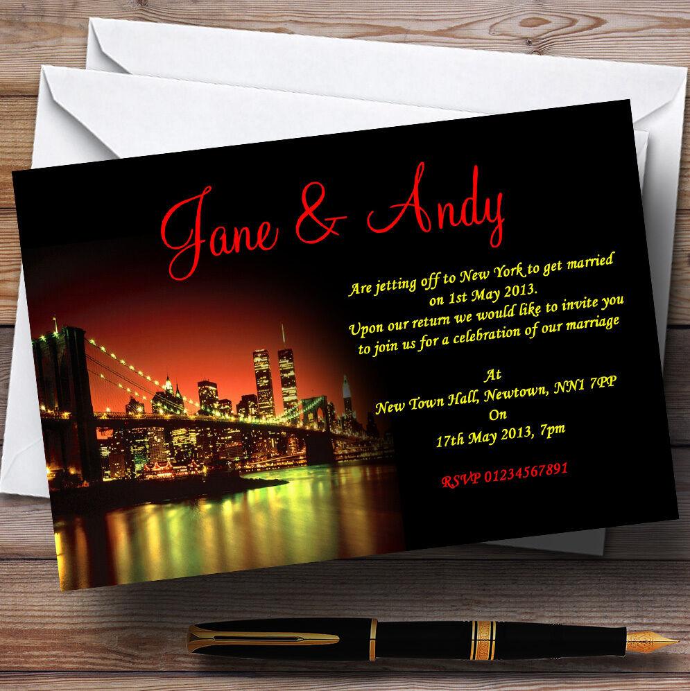 New York Personalised Wedding Invitations
