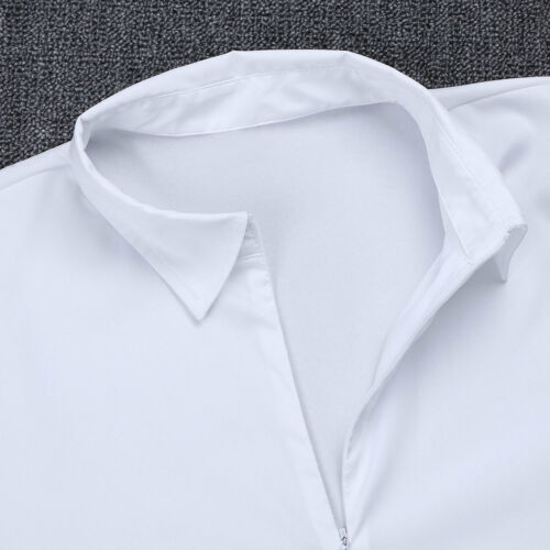 Adult Mens V-neck Ballroom Top Shirt Latin Tango Rumba Jazz Dance Leotard Romper