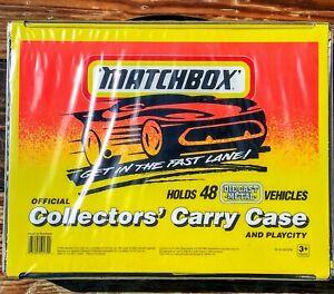 1994-Matchbox-Superfast-48-coche-Coleccionistas-Carry-Case-amp-Play-Ciudad-Con-Bandejas