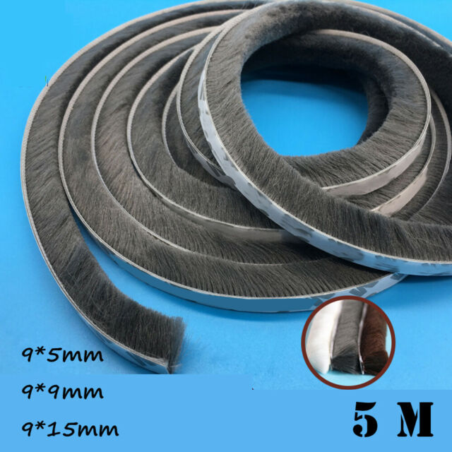 9mm x 15mm Self Adhesive window and door Draught Excluder Brush Pile Seal