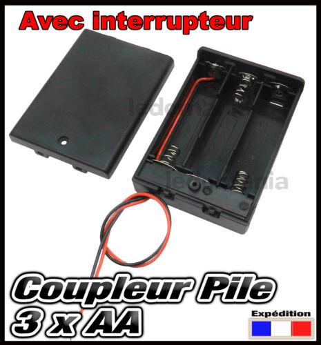 997A# coupleur pour 3 x piles AA R6 R06 LR6 LR06 bloc coupleur de pile