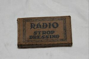 Vintage Radio Straight Razor Strop Dressing Box Amp Dressing