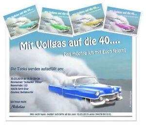 Lustige Einladungskarte Geburtstag Manner Auto Rennwagen Jedes Alter