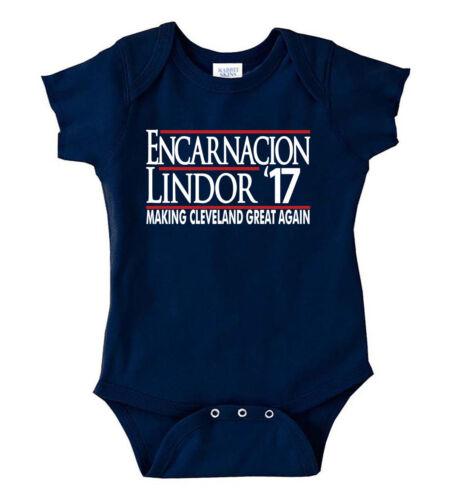 "Cleveland Indians Francisco Lindor /""Encarnacion 17/"" jersey T-shirt Shirt"