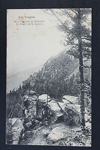 Tarjeta-Postal-Antigua-CPA-Escalinata-Del-Hohneck-La-Roca-de-La-Fuente