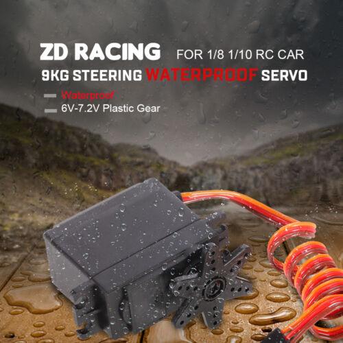 Upgrade ZD Racing 9KG 6V-7.2V Steering Waterproof Servo for 1//8 1//10 RC Car I0B1