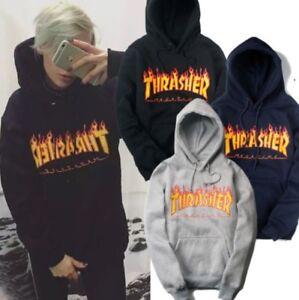 Men-Women-Hoodie-Sweater-Hip-hop-Skateboard-Thrasher-Sweatshirts-Pullover-Coat-X