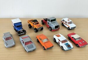 MATCHBOX-AUTO-BUNDLE-Vintage-70s-amp-80s-DIE-CAST-CAMION-4x4-POLIZIA-PORCHE-Capri