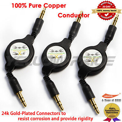 Long 3.5mm Male Car Aux Auxiliary Cord Stereo Audio Cable for Phone iPod Short