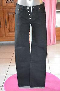 Jeans 30 W Taille 40 Noir État Excellent Levis Modèle F Joli 501 SyUYwWF50q