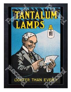 Historic-Tantalum-Lamps-or-lightbulbs-Advertising-Postcard