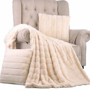 Image Is Loading Boon Rabbit Faux Fur Throw Blanket With 2