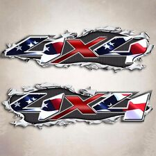 4x4 Truck Decal American Flag Sticker Patriotic compatible with Chevy GMC Trucks