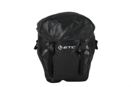 New ETC Cycling Bike Waterproof Pannier Rack Luggage Side Bag 2 Sizes Black
