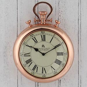 Copper-Stopwatch-039-Bond-Street-039-Wall-Clock-High-Quality-amp-Unique-43cm