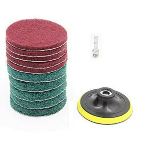 11pcs//set Drill Brush Scouring Pads Attachments For Bathroom Kitchen Cleaning