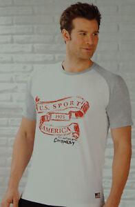 2x-Herren-T-Shirt-U-S-Sport-America-Sportshirt-Fitness