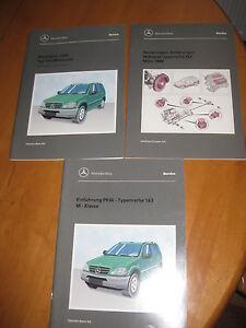 Mercedes-W-163-Service-Instandhaltung-3-x-Buecher-M-Klasse-1998-99