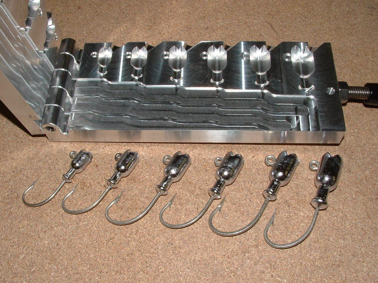 Saltwater Rubylips -2 Jig mold 1 2,3  4,1,1.25,1.5,2oz CNC Aluminum  first-class service