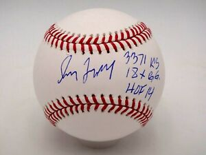 GREG MADDUX HOF 14, 3371 KS, 18X GG STAT SIGNED MLB AUTHENTIC BASEBALL AUTOGRAPH