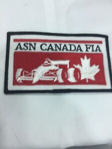 Vtg-ASN-Canada-FIA-Embroidered-Sew-On-Patch-Indy-Car-Formula-1-Racing-F1-Badge