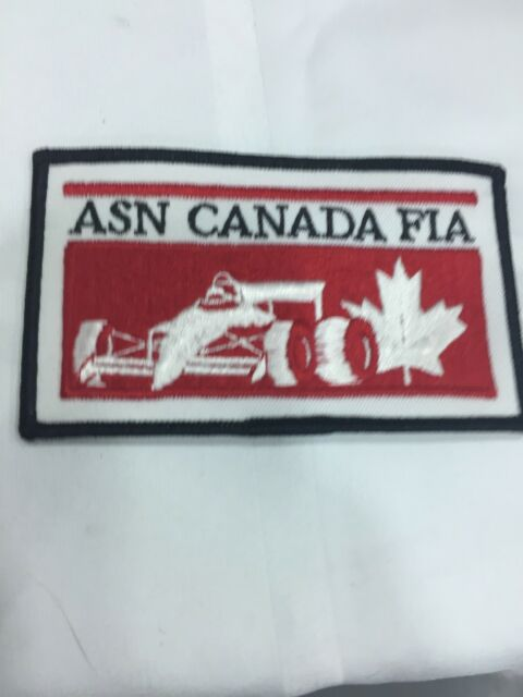 Vtg ASN Canada FIA Embroidered Sew On Patch Indy Car Formula 1 Racing F1 Badge