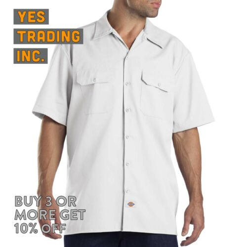 DICKIES 1574 MENS CASUAL WORK SHIRT SHORT SLEEVE UNIFORM DRESS SHIRTS BUTTON UP