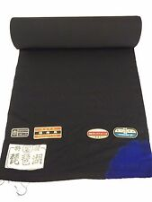 "Vintage Japanese black silk kimono fabric,sold by the metre,36.5CM 14.3""(AA1495)"