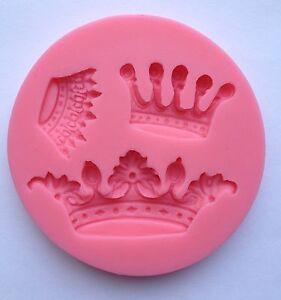 Queen soft silicone mold fondant mat cake decorating cupcake design