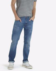 Para-Hombre-Wrangler-Greensboro-Stretch-Jeans-Conico-ex-RRP-75-segundos-WA117