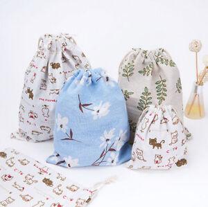 Cotton-Drawstring-Back-Pack-Sack-Gym-Tote-Bag-School-Sport-Shoe-Bag-GOOD