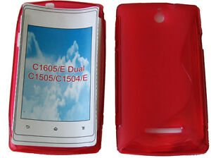 timeless design 9df45 09538 Details about TPU Soft Pattern Gel Case Cover For Sony Xperia E / Dual  C1605 C1505 C1504 RED