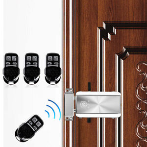 Details About Remote Control Door Lock Wireless Anti Theft Security Lock  Access Control System